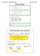solving absolute value equations notes