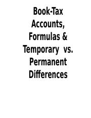Book accounting vs tax accounting