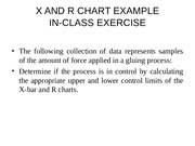 X AND R CHART IN CLASS EXAMPLE.ppt