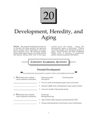 Development, Heredity, and Aging Study Guide