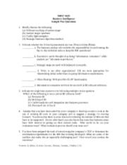 MIST 5620 Sample Exam Questions
