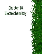 Chapter18. Electrochemistry -1