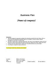 Project - Business Plan - Table