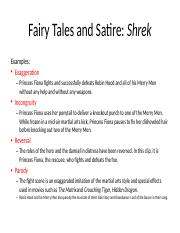 7 Jan Pptx Fairy Tales And Satire Shrek Examples Exaggeration