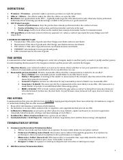 CONTRACTS OUTLINE FALL 2010