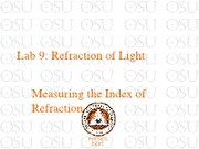 Lab 9 The Index of Refraction
