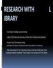 Research with Library.pptx