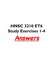 3210 ET6 Answers to Study Exercises 1-4