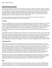 Staff Performance Evaluation Research Paper Starter - eNotes.pdf
