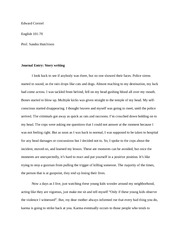 Journal Entry- Story Writing and creative play write