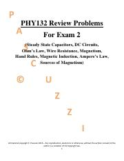 PHY132 Exam2 Practice FRQ FINAL NEW