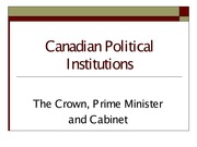 PO290 Crown and Prime Minister Lecture