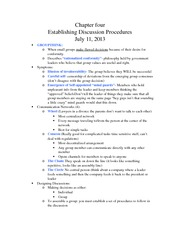 Chapter 4: Establishing Discussion Procedures