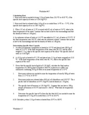Worksheet Specific Heat Worksheet worksheet 17cgt 17 calculating heat 1 how much is needed