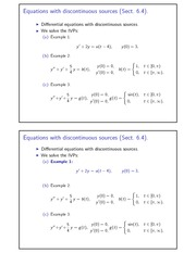 Equations with discontinuous sources
