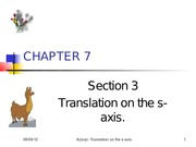 CH-7-Section 3 Translation on s-axis