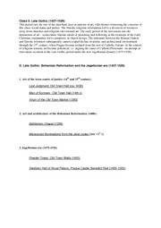 Study guide, class 05 - Late Gothic