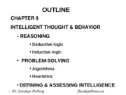 Chapter 9 Lecture Diagrams - (Intelligence) 2009-2010