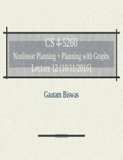 CS 4-5260_Lect12_Nonlinear Planning +Graphplan(1)