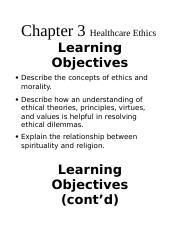 Chapter 3 Healthcare Ethics.docx