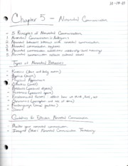 Communication203Chapter5Notes
