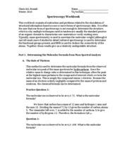 Spectroscopy Workbook