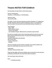 theatre notes exam 3