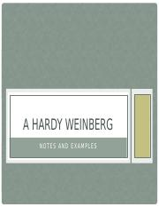 Hardy Weinberg Notes and Examples.pptx