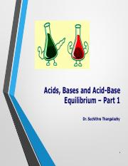 Acids and Bases-Part 1