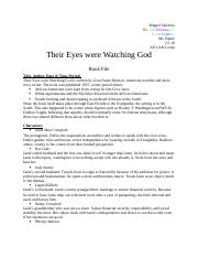 Their Eyes Were Watching God Book File