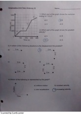 Science 10: Kinematics Quiz