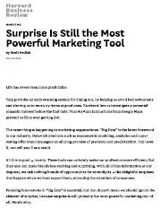 Surprise Is Still the Most Powerful Marketing Tool