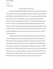 pro and con essay