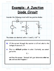 Example A Junction Diode Circuit
