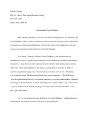 PHI 305 Critical Thinking and Problem SolvingPaper.docx