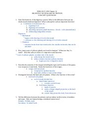 Concept Questions Ch 14