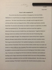 PSY 366 Extra Credit Assignment 2