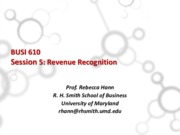 Session 5 Revenue Recognition 2015