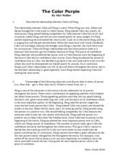 definition essay rough draft new friends through our existing  1 pages the color purple questions