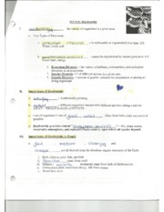 Biology Biodiversity Guided Notes
