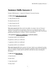 Answers_ Sentence Skills 2 Practice.doc