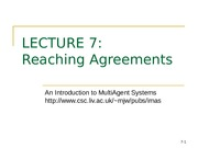 Reaching Agreements-slides