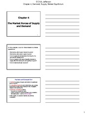 Chapter 04 The Market Forces of Supply and Demand 2