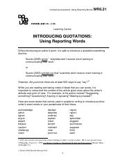Introducing quotations - using reporting words.pdf
