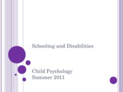 CH 16 Schooling and Disabilities PSYC 2076