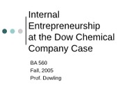 Dow Case Notes for Students