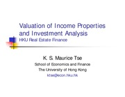 L8 Valuation of Income Properties and Investment Analysis