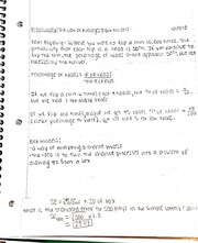The law of averages and expected value notes