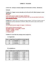 Isotopes, FW & Moles worksheet questions -answers for posting.docx