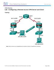 8.7.1.2 Lab - Configuring a Remote Access VPN Server and Client.docx